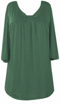 SOLD OUT!!!!!1Green Cotton Lycra Half Sleeve Babydoll Top  5x