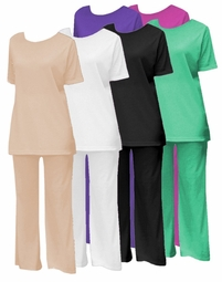 Sold Out!!! 2pc Top & Palazzo Pant Set Plus Size Supersize Womens Petite & Tall  3xp/ 4x