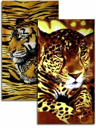 """SOLD OUT! 50% OFF! Extra Large Oversize Soft Terry Cloth Cheetah Print Beach Towels! 30"""" x 60"""" <br><font color=red>Get Extra Quantity Discount! Click for Details!!"""