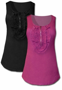 SOLD OUT!!!!!!!!! Beautiful Plus Size Hot Topic Black and Pink Ruffle Tops