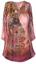 SOLD OUT!!  Beautiful Rose Colored Plus Size Tunic Top With Sequin Detail 5x