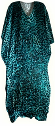 SOLD OUT!!!!!!!!!!!!!!!!Beautiful Royal Blue Leopard Poly/Satin Plus Size & Supersize Caftan Dress 1x to 6x