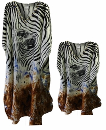 Sold Out!!!! Black Brown & White Animal Print Poly/Satin Plus Size & Supersize Caftan Dress or Shirt 1x to 6x