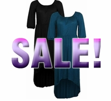 SOLD OUT! SALE! Teal High-Low Cascading Plus Size Dress 5x 6x