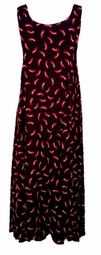 """SOLD OUT!!!!!!!!Black & Red """"Shoes"""" Slinky Plus Size & Supersize Princess Cut Dress  6x"""