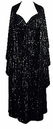 SOLD OUT! Black & Silver Glittery 2pc Princess Cut Dresses 3x