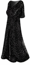 SOLD OUT!!! Black Sparkly Glimmer Plus Size Supersize Dress 2x
