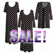 SOLD OUT! CLEARANCE! Black & White Big Dots Plus Size Supersize Slinky Dress 0x