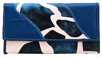 SOLD OUT! Blue Giraffee Print Faux Leather Wallet with Checkbook Cover