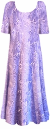 SOLD OUT!!!!!!!!!!!!!!!!!Blue Snakeskin Princess Cut Short Sleeve Plus Size & Supersize Dresses 5x