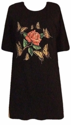 SOLD OUT!! Butterfly Rose Plus Size & Supersize T-Shirts
