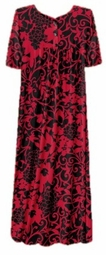 SOLD OUT! CLEARANCE! Beautiful Black & Red Button Top Slinky Dress 6x