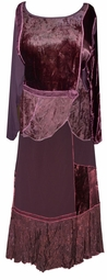 SOLD OUT! CLEARANCE! Beautiful Dark Brown Wine Floral Embossed 2 Piece Plus Size Top & Skirt Set 3x