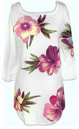 SOLD OUT!!!!!CLEARANCE! Beautiful Floral Half-Sleeve Plus Size T-Shirts 0x