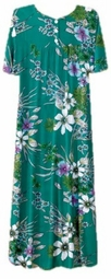 SOLD OUT! CLEARANCE! Beautiful Green Floral Button Top Slinky Dress 6x