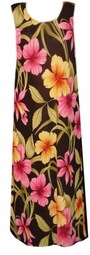 SOLD OUT! CLEARANCE! Beautiful Tropical Flowery Plus Size Supersize Tank Dress 6x 7x Extra Long!