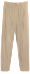 SOLD OUT! CLEARANCE! Beige Cotton/Lycra Plus Size Stretch Pants 1x