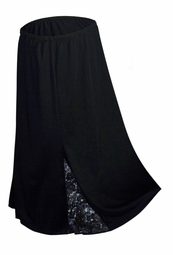 SOLD OUT! CLEARANCE! Black Lace Slinky Skirt Plus Size Supersize 3x/4x 5x/6x 8x/9x