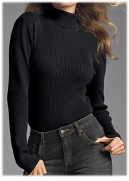 SOLD OUT! CLEARANCE! Black Ribbed Turtleneck Sweater Plus Size 3x