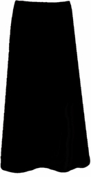 SOLD OUT! CLEARANCE! Black Slinky Plus Size Supersize Long Skirt 5x 6x
