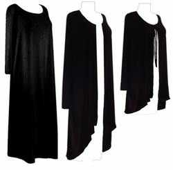 SOLD OUT! CLEARANCE! Black Velvet Plus Size & Supersize Dresses & Jackets 0x