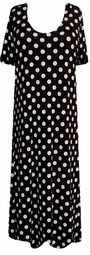 SOLD OUT!  CLEARANCE!  Black & White Dots Dress 4x.5x