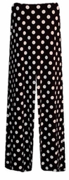 SOLD OUT! CLEARANCE! Black & White Dots Slinky Plus Size Pants 4x
