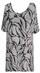 SOLD OUT! SALE! CLEARANCE! Black & White Fern Slinky Plus Size Shirt 4x