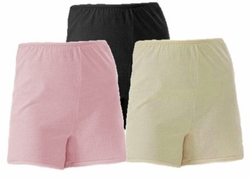 SOLD OUT! CLEARANCE! Boy Short Style Long-Leg Cotton Panties Plus Size Supersize 15 in Black - Beige - Pink
