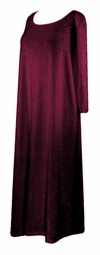 SOLD OUT! CLEARANCE! Burgundy Crush Velvet Plus Size & Supersize Dresses 4x/5x
