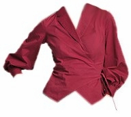 SOLD OUT!!!!CLEARANCE! Burgundy Wrap Front Blouse Plus Size