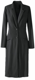 SOLD OUT! CLEARANCE! Charcoal Pinstripe Blazer Long Coat Plus Size 24w 3x