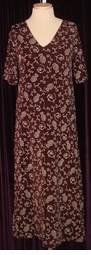 SOLD OUT! CLEARANCE! Chocolate Brown Floral Slinky Plus Size Dress 8x/9x