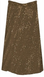 SOLD OUT! CLEARANCE! Coffee & Gold Glittery Plus Size Skirt 3x 4x