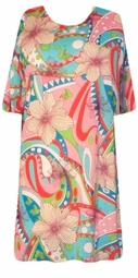 SOLD OUT! CLEARANCE! Colorful Flowery Lightweight Plus Size T-Shirt 1x/2x