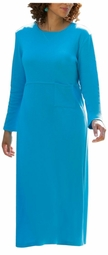 SOLD OUT! CLEARANCE! Comfortable Plus-Size Turquoise Rib Knit Dress 5x