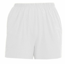 SOLD OUT! CLEARANCE! Comfy Plus-Size White Elastic Waist and Side Pockets Shorts 6x