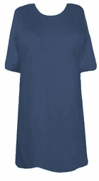 SOLD OUT! CLEARANCE! Comfy Slate Cobalt Blue Regular Plus Size Baby Rib T-Shirt 1x