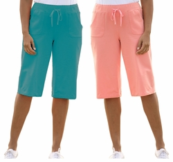 SOLD OUT! CLEARANCE! Coral Plus-Sized Bermuda Shorts 6x
