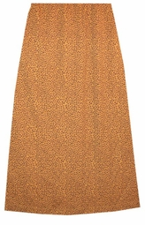 SOLD OUT! CLEARANCE! Cute Multi-Giraffe Print Skirt with Elastic Waist and Back Slit 4x