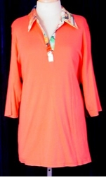 SOLD OUT!!!!!!!!!!!!! CLEARANCE!! Cute Orange Collard Plus Size Top 1x