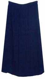 SOLD OUT! CLEARANCE! Dark Blue Stretch Denim Plus Size Supersize Skirts 1x