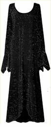 SOLD OUT! CLEARANCE! Dazzling Black Glimmer Plus Size & Supersize Dresses 0x 4x