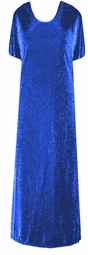 SOLD OUT! CLEARANCE! Dazzling Royal Blue 2pc Glimmer Plus Size Supersize Dress 4x 5x