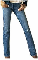 SOLD OUT! CLEARANCE! Distressed Stonewash Blue Plus Size Five-Pocket Jeans 3x - 24w