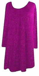 SOLD OUT! CLEARANCE!! Fuschia Pink Glimmer Pullover Sweater 2x