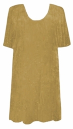 SOLD OUT! CLEARANCE! Gold-ish Slinky Plus Size Slinky Long Shirt 2x/3x