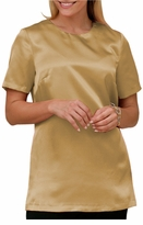 SOLD OUT!!!!!CLEARANCE! Gorgeous Plus Size Gold Charmeuse Shell Top with Side Slits