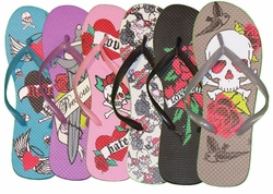 SOLD OUT! Final Sale! Gray Flip Flops with Attitude S