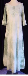 SOLD OUT! CLEARANCE!! Green And White Plus Size Tie Dye Dress 2x